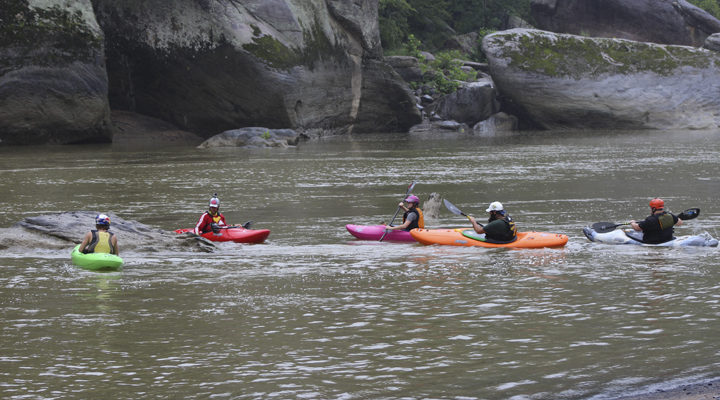 Kayakers return to do community service at Cumberland Falls