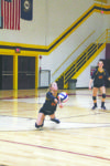 Brittany Ross goes to the ground to dig out a Bell County attack in McCreary's 2-1 win.
