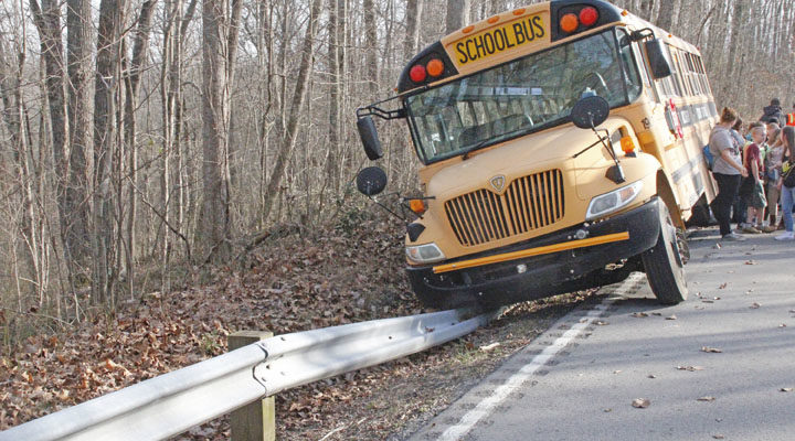 Bus accident – no injuries